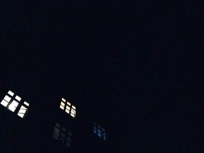 Night Lights. · Hamburg Germany 040 Barmbek Building House Residential  Windows Window Lights Light And Shadow Up Darkness Night Urban Landscape City Life