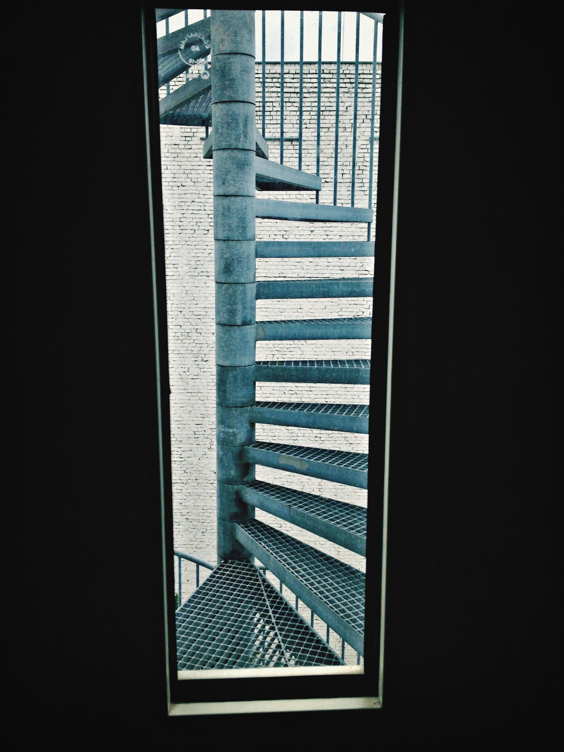 indoors, window, pattern, architecture, dark, built structure, blinds, sunlight, railing, shadow, staircase, glass - material, steps, home interior, transparent, day, closed, no people, absence, steps and staircases