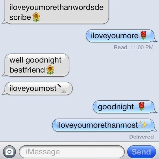 those talks with your bestfriend>