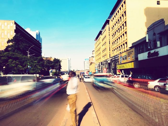 Traffic blur on