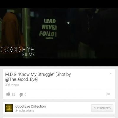 Tune in and watch the new video....link in my bio Liveit KnowMyStruggle dir by @thegoodeyecollection