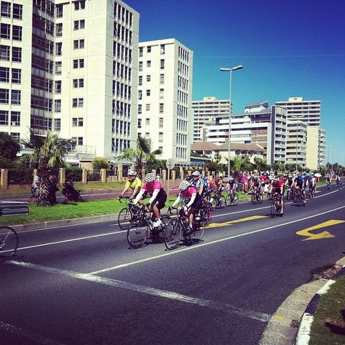 Close to the finish Cycletour Capeargus Capetown
