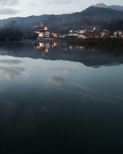 Water Mountain Lake Reflection Sky Landscape