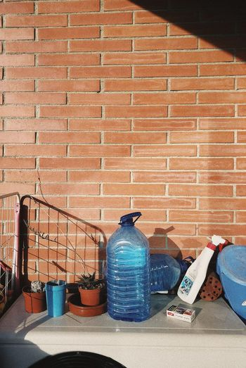 Real life aesthetics Wall - Building Feature Brick Wall Wall Brick Built Structure Architecture Creative Space Still Life Day Pattern Building Exterior Container Sunlight
