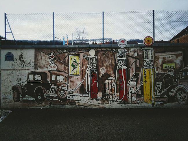 Peinture Murale Hanging Out Fresque Façade Wall No People Street Outdoors Morteau