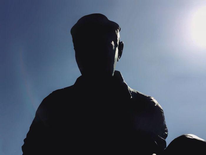 Statue Shadow Silhouette CarolSharkeyPhotography