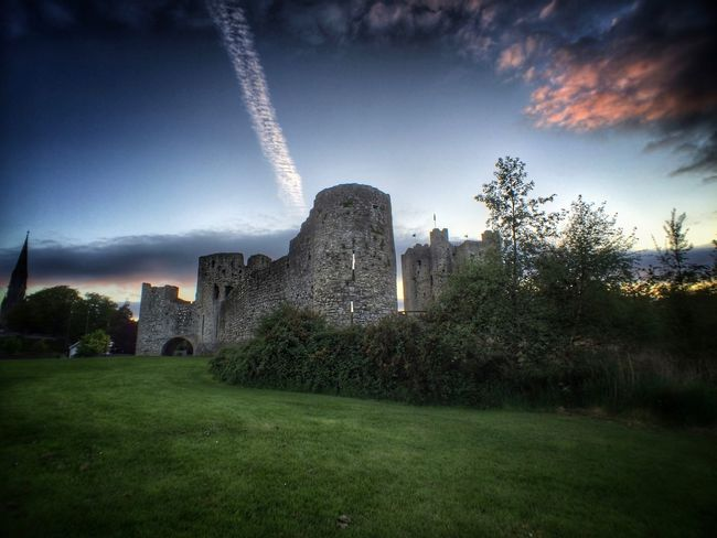 Architecture Building Exterior Built Structure Castle Cloud - Sky Day Grass Growth Historical Building History Ireland Irish Nature No People Outdoors Sky Travel Travel Destinations Tree Trim Castle