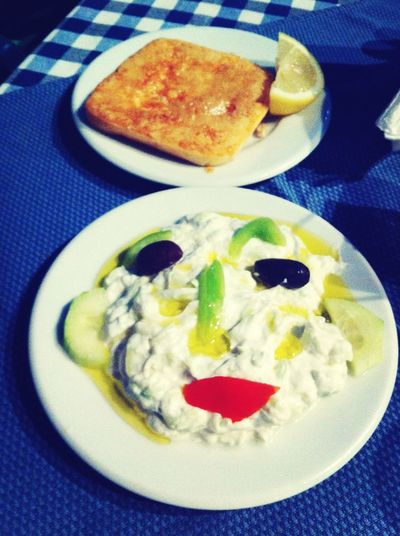 Tzatziki with saganaki