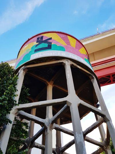 Water under the bridge! Bridge Lisbon Watertower Multi Colored Sky Architecture