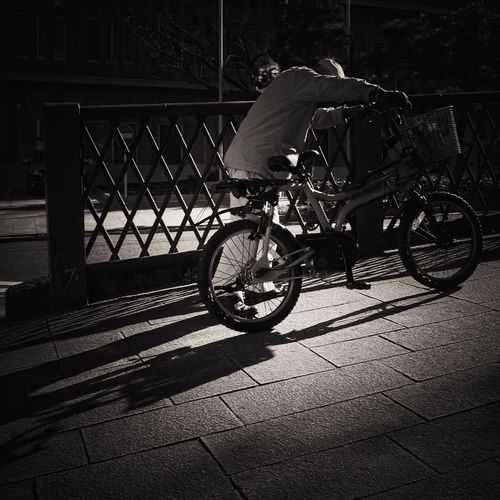 Streetphotography Monochrome Bicycle Sloping Road