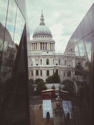 London Cathedral Reflection Architecture