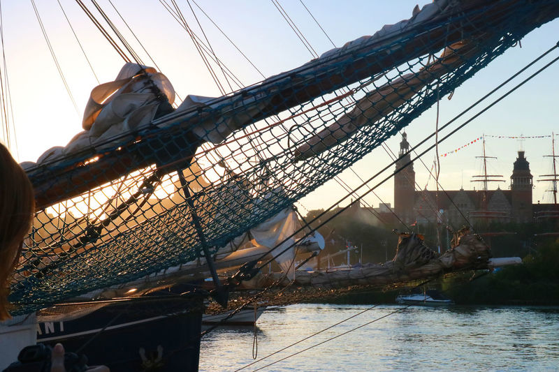 FOREMAST Tall Ships Built Structure Net Sailing Sea Sky Sundown Tall Ship Details Water