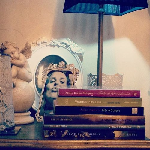 My Bedsidetable after visiting a Bookfair .. :D Books Reading Readingcorner Nightstand Bed Bedtime Bedtimestories Loveit