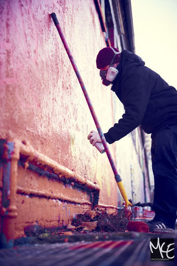 Day Grafiti Hannover Hanover One Person Outdoors Painting Real People Standing Working Young Adult
