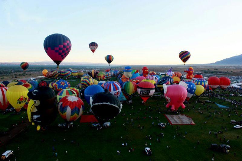 Albuquerqueballoonfiesta Newmexico Abqphotos Balloonfiesta  Albuquerque Onlyinnewmexico Birdseyeview