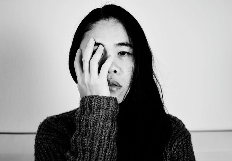 sad women, black and white style Indoor Face Close Face Women Young Lifestyles People person Sadness Sad Cry Alone One Person Girl Black And White Background Colour View Looking Portrait Beauty Headshot Human Face Beautiful People Close-up Posing Thinking Human Lips