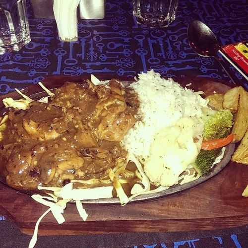 Sizzling Chicken Steak Sizzler Chicken Comtinental Food foodie yummy omnomnomnom food instafood