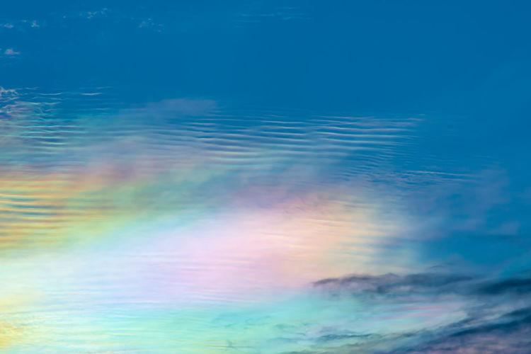 Full frame shot of sea against blue sky