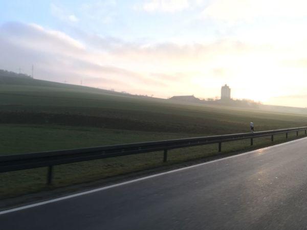 Nebel bei Uettingen Nebel Foggy Landscape Foggy Morning Highway