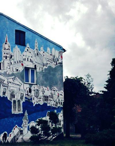 Mural Mural Art Poland Polska Sieradz Blue Streetart