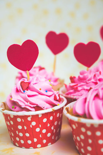 Heart Shape Pink Color Sweet Sweet Food Love Close-up Food And Drink Indulgence Temptation Food Indoors  Red No People Focus On Foreground Freshness Pattern Multi Colored Unhealthy Eating Flower Container Flowering Plant Polka Dot Floral Pattern Love ♥ Valentine
