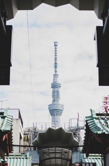 View of tokyo sky tree against sky