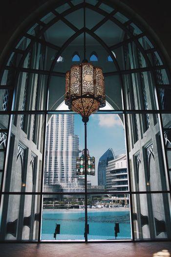 Dubai Travels Travel Burj Khalifa Souk Al Bahar Dubai Ceiling Window Architecture Indoors  Day Built Structure Low Angle View Sky No People