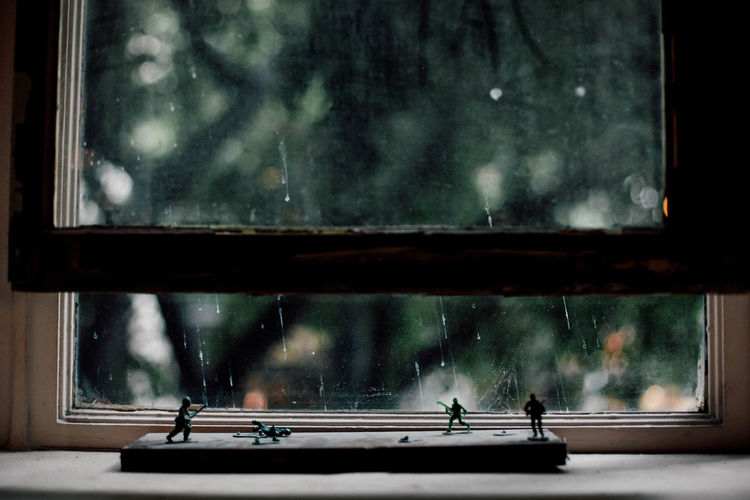 Dark Rain Raindrops Rainy Rainy Days Sky Toy Soldiers Toys Water Weather Window Windowsill