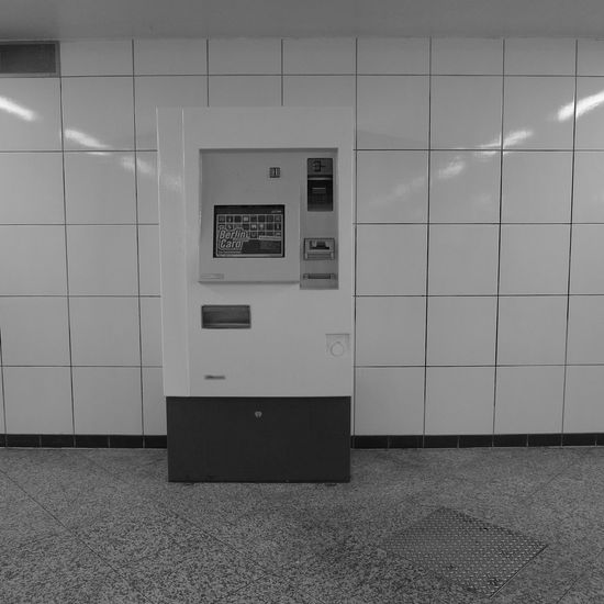 Berlin Bvg Bw Communication No People TicketBooth Tile Ubahn Wall - Building Feature