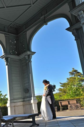 Love Arch Architectural Column Architecture Art And Craft Bride Building Exterior Built Structure Couple - Relationship Day History Human Representation Love Nature Newlywed Outdoors Representation Sculpture Sky Sunlight The Past Travel Destinations Wedding Women
