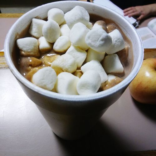 My fav winter drink Hot Chocolate ❤ Hot Chocolate And Marshmellows Food And Drink Close-up Drink Indoors  Warm Feeling Warm Up Feels Like Home. Marshmallow Time Cocoa Is The Best Wintertime ⛄