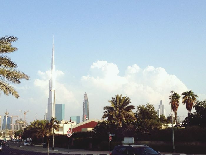 I Love My City Clouds approaching Burj Khalifa Dubai UAE Quiet Afternoon Sunset