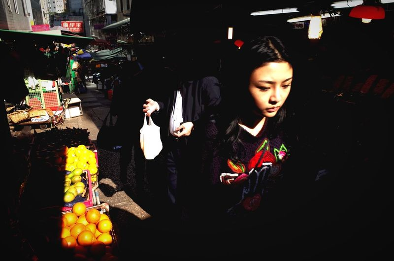 Girl on her way through the narrow steep street markets, Central, Hong Kong. Open Edit HongKong Streetphotography Traveling Light And Shadow