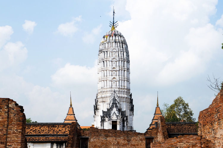 Chedi in Ayutthaya period 13-15 A.D. can call Prang Architecture Travel Destinations History Cloud - Sky Travel Built Structure Business Finance And Industry Sky Outdoors Building Exterior Day Cityscape No People City Archaeology Cultures Ancient History Spiritual Spirituality Ancient Ayutthaya Thailand🇹🇭 Architecture Pagoda Chedi