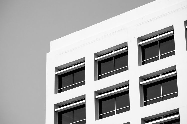 Building Exterior Architecture Built Structure Window Building No People Residential District Day Modern Low Angle View Nature White Color Sunlight Outdoors House Design Sky City Shape Glass - Material Apartment Window Frame