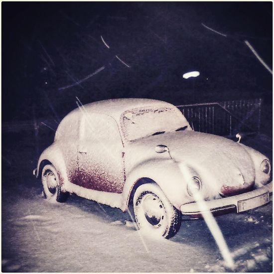 Snowy evening it was... Snowing VW Beetle Kaefer Under Cover