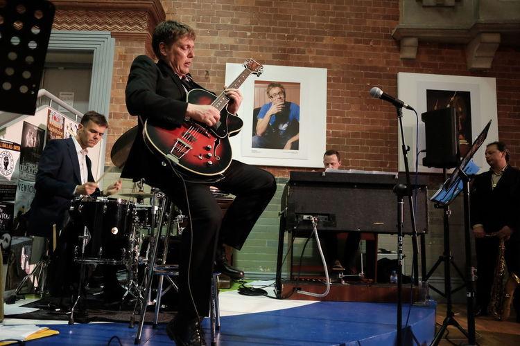 The Nigel Price Organ Trio with Alex Garnett and Ross Stanley Concert Drums Guitar Guitarist HAMMOND ORGAN Jazz Music Saxophone