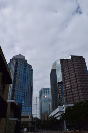 Downtown Tampa, Cloudy Sunday Morning City Cloudy Morning Downtown Tampa Florida My City Sky And Clouds Skyscrapers Tampa Embrace Urban Life The City Light The Street Photographer The Architect - 2017 EyeEm Awards The Street Photographer - 2017 EyeEm Awards Colour Your Horizn