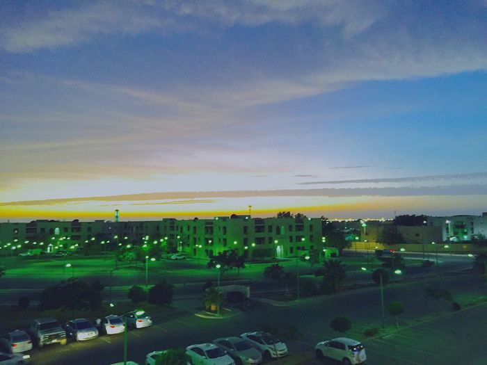 On A Break Innovating Quick_shot Sunset Buildings Clouds Clouds And Sky Yanbu_royal_comission Yanbu Parking