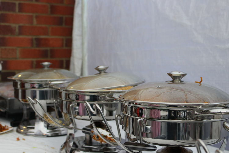 Chafing Dish Day Food Presentation Music No People Outdoor Party Food Warn Food