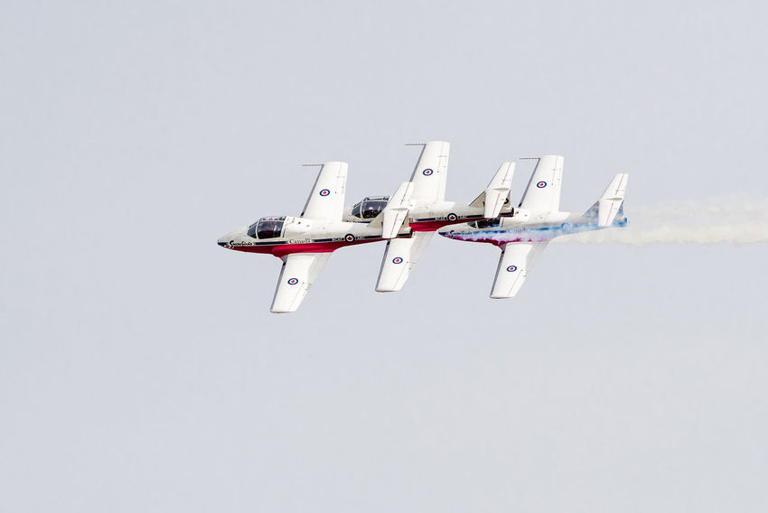Snowbird Aerospace Industry Air Force Air Vehicle Airplane Arrangement Cooperation Copy Space Day Fighter Plane Flying Group Of Objects Military Military Airplane Mode Of Transportation Motion Nature No People on the move Plane Sky Transportation