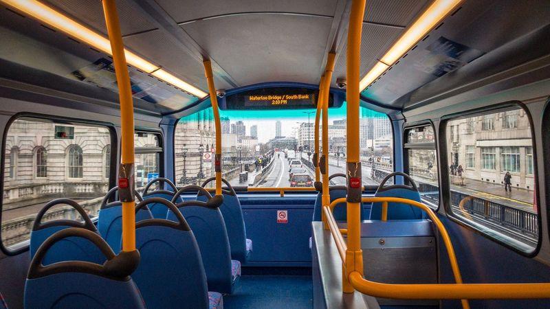 Number 4 TO Waterloo Station Waterloo Bridge London Bus Bus Interior Double Decker Bus Bus EyeEm Selects Vehicle Interior Transportation Public Transportation Mode Of Transport Window Vehicle Seat No People Seat Day
