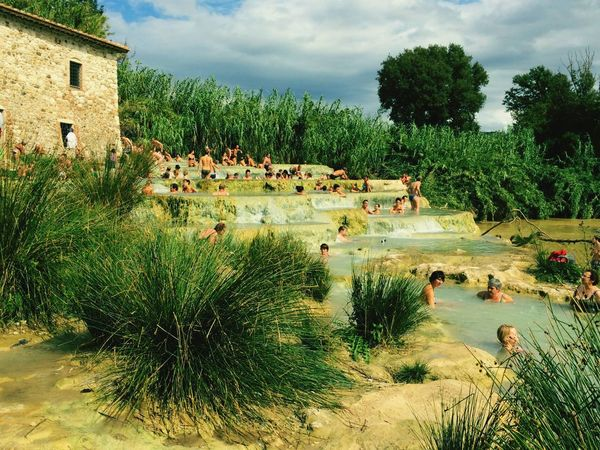Saturnia Grosseto Italy Architecture Sky Nature Outdoors Water Day Watersource Summer Vacations Beauty In Nature Tree Building Exterior