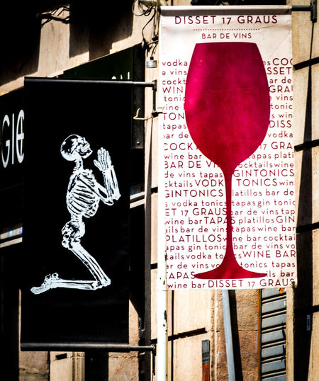 Skeleton Architecture Building Exterior Close-up Day Hanging Indoors  No People Prying Text Wine Wineglass