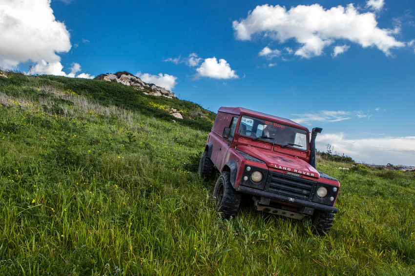 Defender 110 Adventures 110 Expedition Land Rover Off-Road Adventure Blue Cloud - Sky Day Defender 110 Field Grass Land Rover Defender Landrover  Landscape Landy Nature No People Off-road Vehicle Off-roading Offroad Offroading Outdoors Rural Scene Scenics Sky Trek