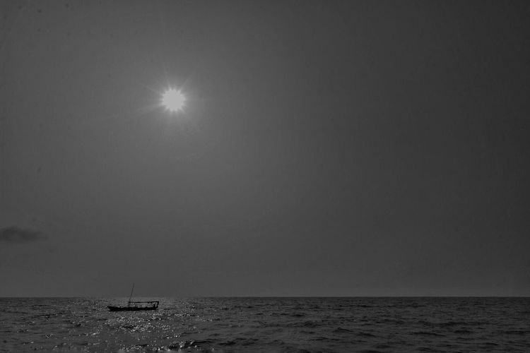 Blackandwhite HairilSaleh Photography Snapshot Boat Sea And Sky INDONESIA Travel Photography Bwphotography