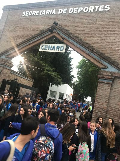 Scuola italiana di Montevideo young athletes at Buenos Aires coni games Sport Teams Crowd Group Of People Large Group Of People Real People Men Text Lifestyles Communication Leisure Activity Western Script Event Architecture Women Celebration Built Structure Adult Enjoyment Day Building Exterior