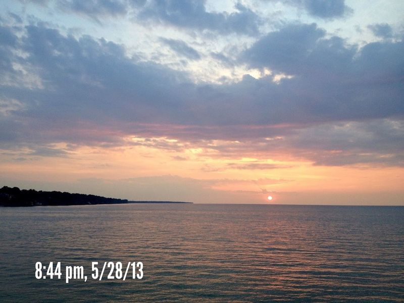Sky_collection Sun_collection Sunset On Lake Erie