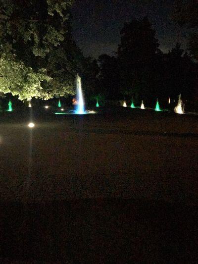 Illuminated Water Illuminated Fountain Water Fountain Lights Illuminated Night Tree No People Lighting Equipment Nature Illuminated Night Tree No People Lighting Equipment Nature