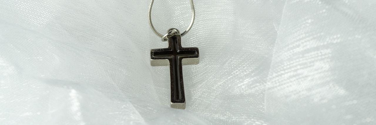 A silver cross